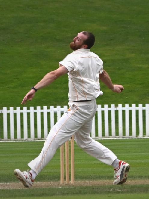Wellington Firebirds bowler Iain McPeake. Photo: Christine O'Connor