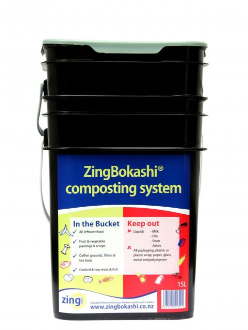 A Bokashi bucket composting system. Photo: Supplied