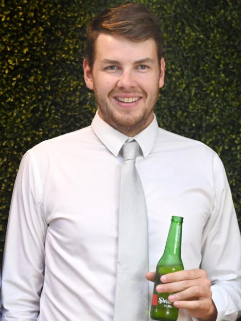 Otago cricketer of the year Jacob Duffy at the OCA awards ceremony. PHOTO: CHRISTINE O'CONNOR