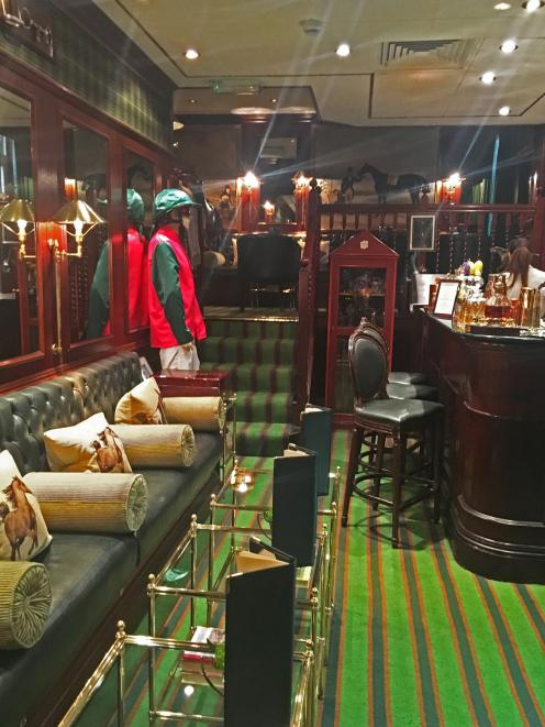 Stables Bar inside The Milestone Hotel. The correspondent's office in London.