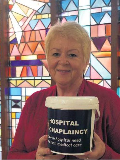 Raising money . . . Otago Healthcare Chaplaincy Support Trust administrator and fundraiser...