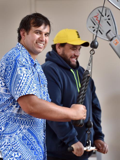 Te Kaika health hub co-founder Albie Laurence uses the facility's gymnasium alongside Mauri Ora...