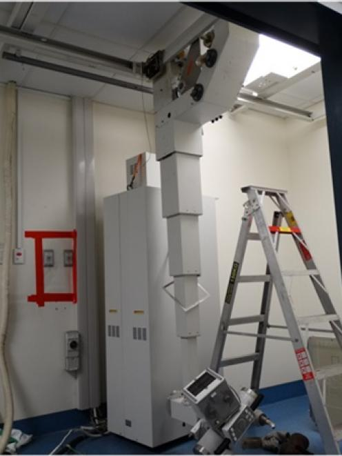 A man's arm was almost severed while decommissioning an X-ray machine at Dunedin Hospital. Photo:...