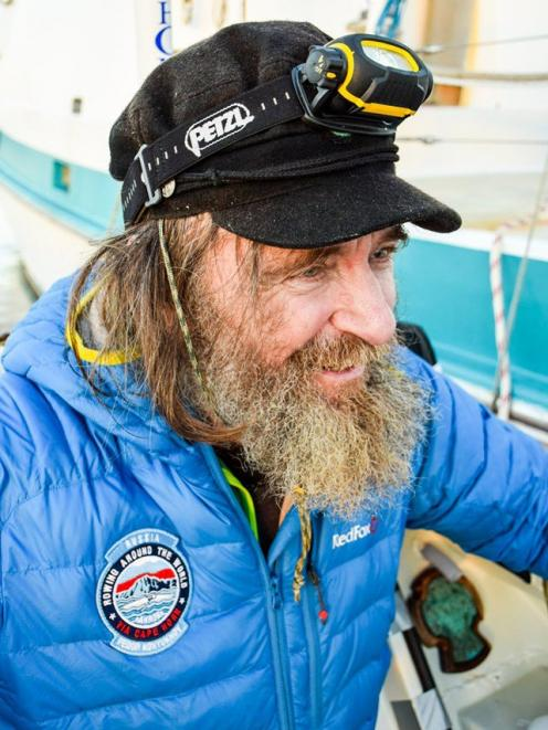 A joyful Fedor Konyukhov on his arrival at Cape Horn. PHOTO: SUPPLIED