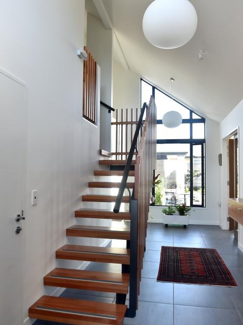 The stairs and railings were made from renewable Southland beech.