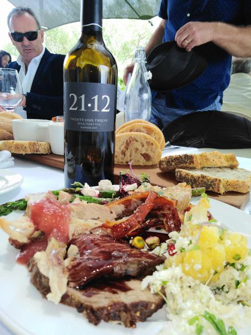 Paritua winery at Bridge Pa Triangle held an alfresco lunch - A Taste of the Season. Photo:...