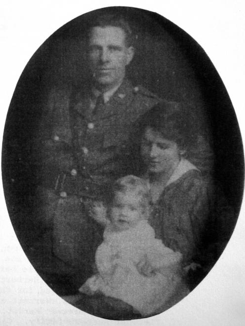 Principal Kelso Dairy Factory founder James Laidlaw Herbert, wife Gladys and daughter Eve, c1914.