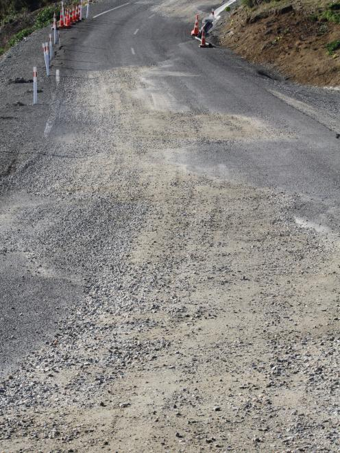 Haven St, Moeraki, before it was restored to  gravel last year. Photo: Hamish MacLean.