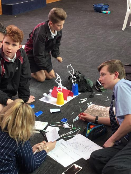 A group of pupils take part in the GrowingNZ Innovation Challenge. Photos: GrowingNZ