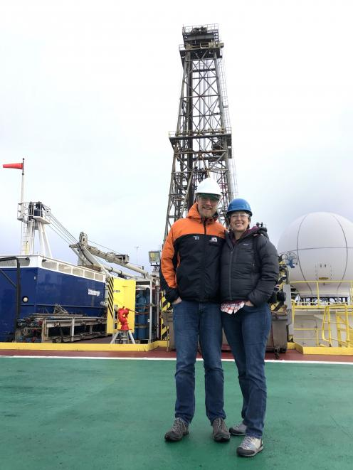 University of Otago paleoceanographer Dr Christina Riesselman and husband paleoclimatologist Dr...