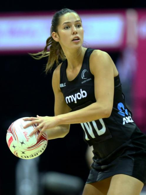 Kayla Cullen in action for the Silver Ferns earlier this year. Photo: Getty Images