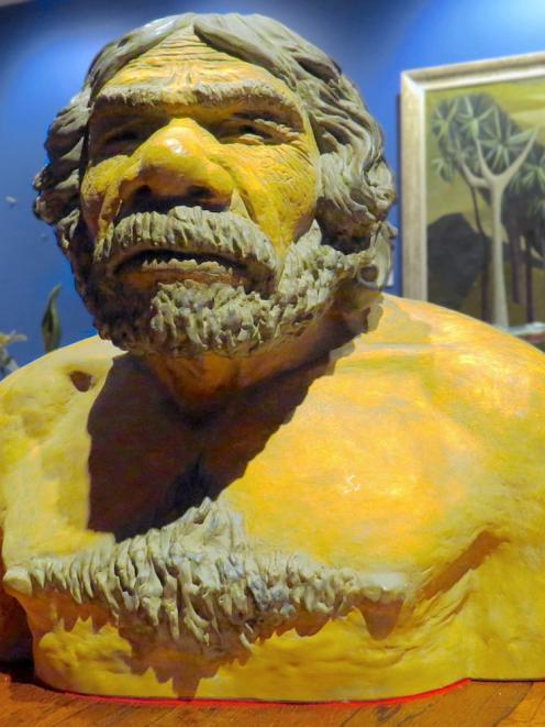 Neanderthal bust, (Unknown artist)