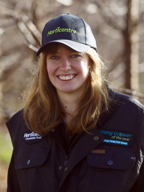 Ellen Watt is the Central Otago Young Fruitgrower of the Year. Photo: Ivor Earp-Jones