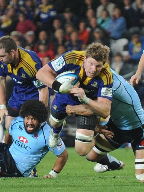 Adam Thomson in action for the Highlanders. Photo: ODT files