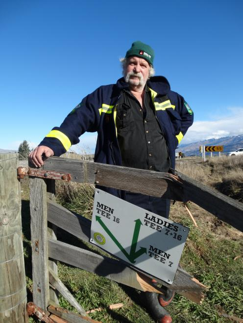 Tarras Fire Brigade controller Mark Davidson and the Tarras Golf Club gate damaged in crashes...