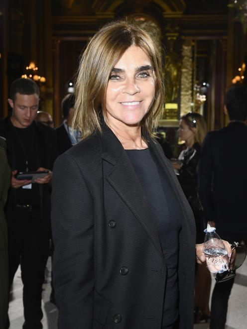 Carine Roitfeld attends a show at Paris Fashion Week in 2018. Photo: Getty Images
