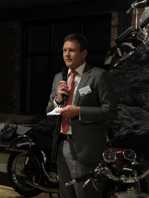 Air New Zealand head of regional affairs Reuben Levermore addresses the Invercargill business...