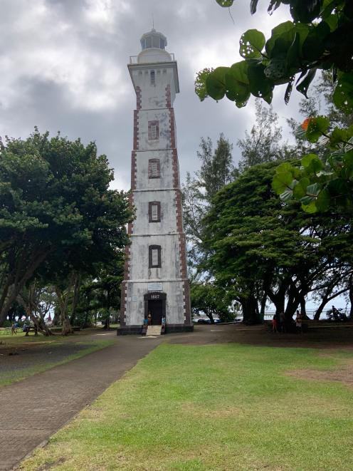 The Point Venus lighthouse tower, designed by writer Robert Louis Stevenson's father, Thomas,...