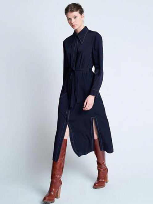 Denim is a constant in wardrobes. Pictured: Still Life Dress in Dark Navy by Karen Walker. Photos: Supplied