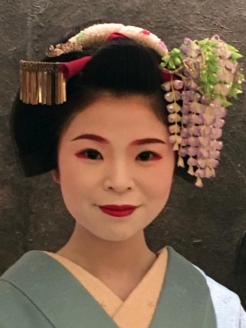 A Maiko, Geisha in training.