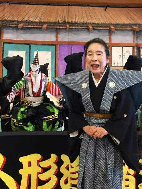 National Treasure of Bunraku puppetry.