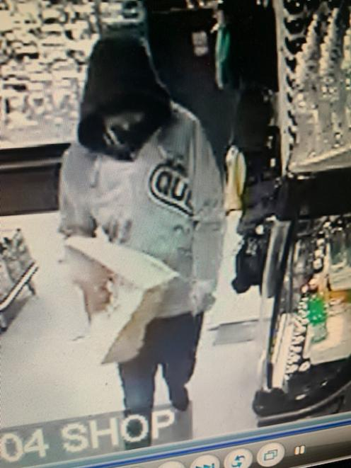 Security footage featuring a suspect from the earlier incident at the same service station on Friday. Photo: Supplied