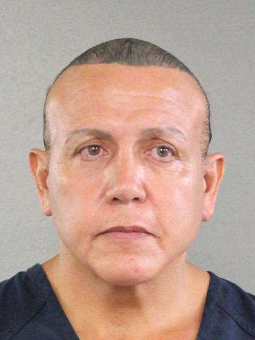 Cesar Altieri Sayoc is pictured in Ft. Lauderdale. Photo: Reuters via Broward County Sheriff's Office