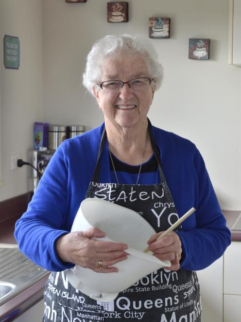 Hilda Chalmers, who baked the mysterious fruit cake. PHOTO: GERARD O'BRIEN
