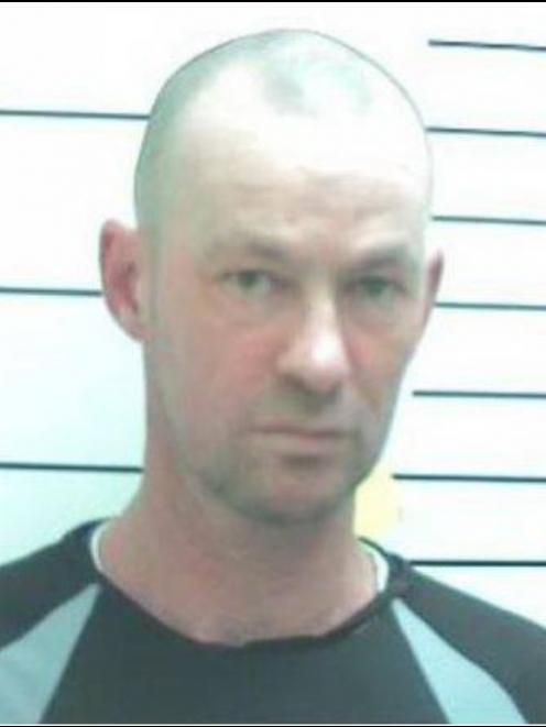 Mugshot of 1998 convicted murderer Aaron Howie, 47, who is on the run from police in Canterbury....