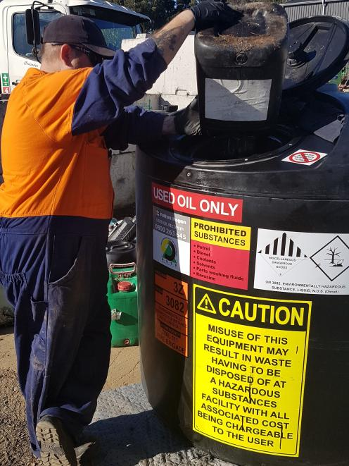 ChemWaste will be present overseeing disposal of chemicals.