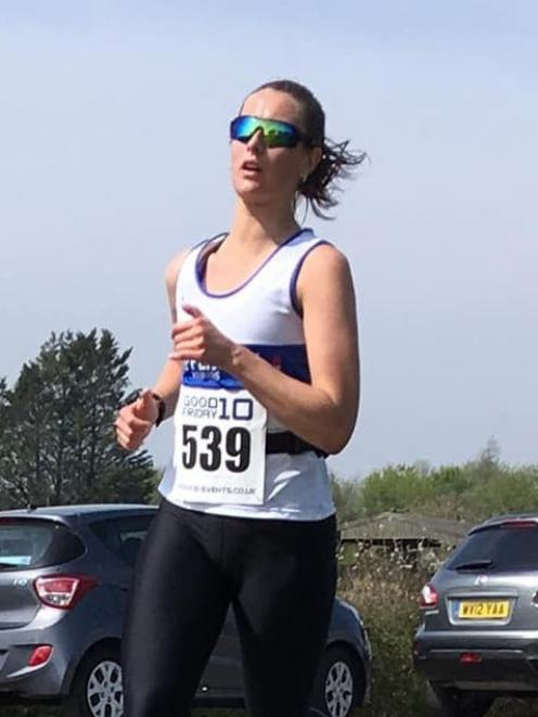 Dunedin Marathon entrant Georgia Wort (Chippenham Harriers) competes in a recent club event in the United Kingdom. Photo: Supplied