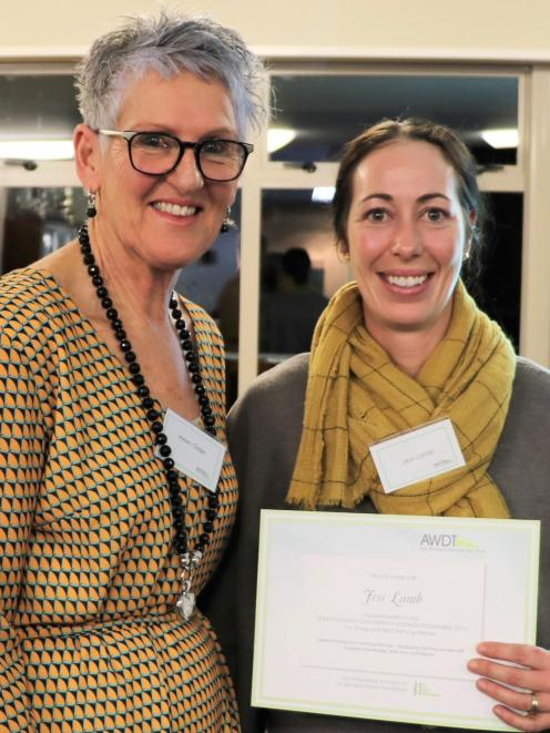 Understanding Your Farming Business Lawrence-programme graduate Jess Lamb (right) with Escalator...
