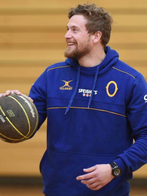 New Otago import Louis Conradie training at the Edgar Centre yesterday. Photo: Gregor Richardson