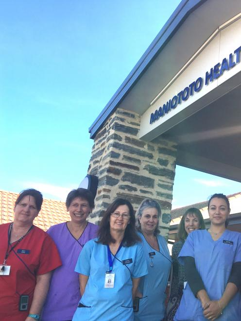 Maniototo Hospital staff (from left) Kerri Harrington, Jo Thomson, Shirley Lowen, Heather...