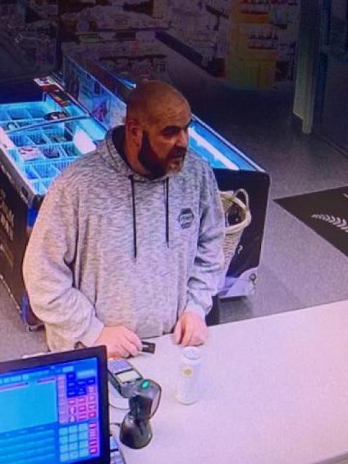 CCTV footage of Mr Wilson. Photo: NZ Police