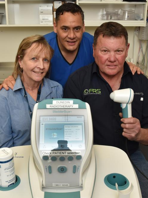 OceanaGold Macraes health, safety and training manager Bernie Murphy (left), Dunedin Hospital...