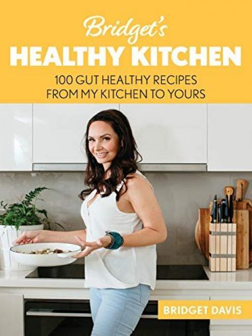 Bridget's Healthy Kitchen, by Bridget Davis, published by Bridget Davis Books. It is available from go.bridgetshealthykitchen.com/gut-healthy-cookbook
