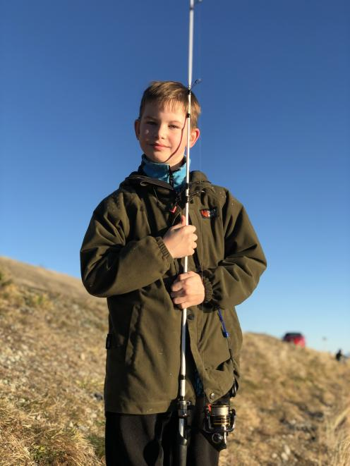 Passionate hunter and fisher nine-year-old Lucas Robinson is reaping the benefits of life...