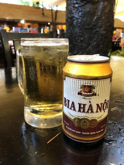 Beer produced in Hanoi.