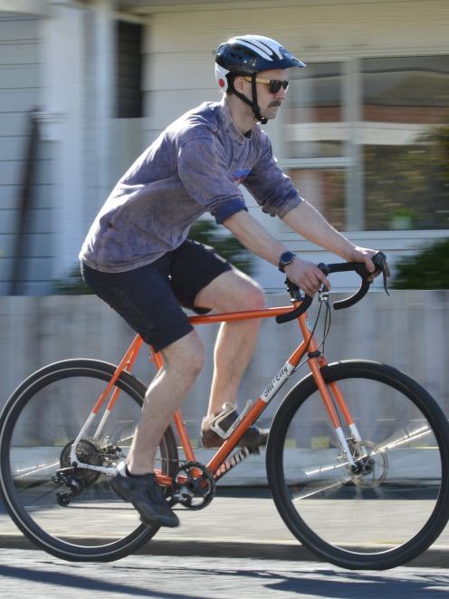 Cyclist Tod Coxhead, of Mornington, Dunedin.