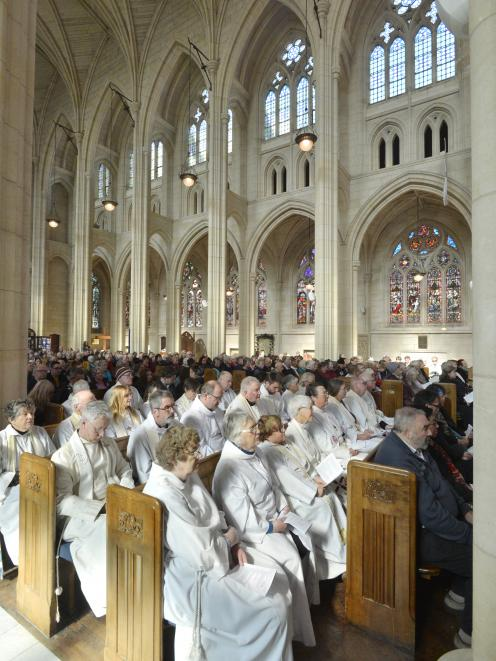 St Paul's was at full capacity for the service. PHOTOS: GERARD O'BRIEN