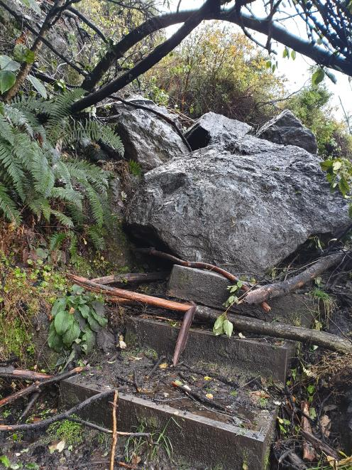 The Department of Conservation is hoping to have the rockfall cleared and the Diamond Lake Rocky...