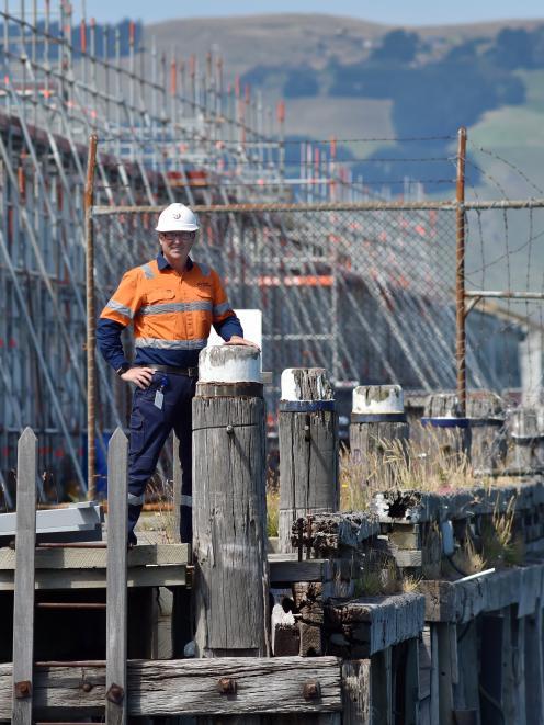 Port Otago CEO Kevin Winders on the Fryatt St wharf earlier this year. Photo: Gerard O'Brien