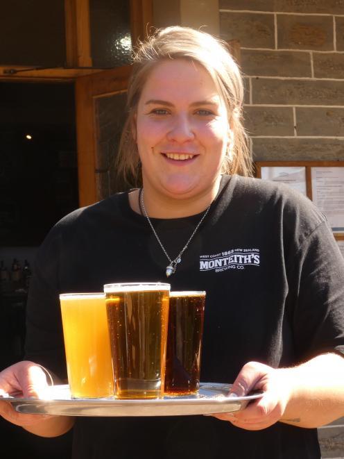 Monteiths Brewery Bar Alexandra front of house Georgia Ellenden in full swing this week. Photo: Adam Burns