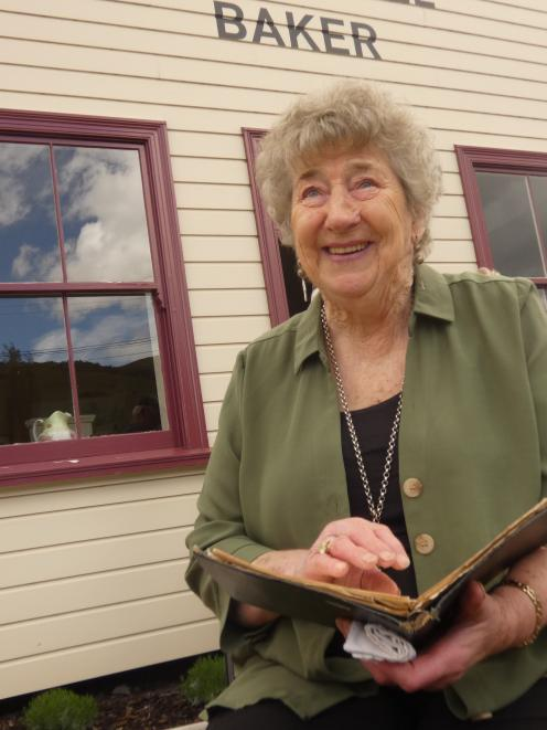 Millers Flat Bakehouse Restoration Trust chairwoman Betty Adams chuckles at some of the old...
