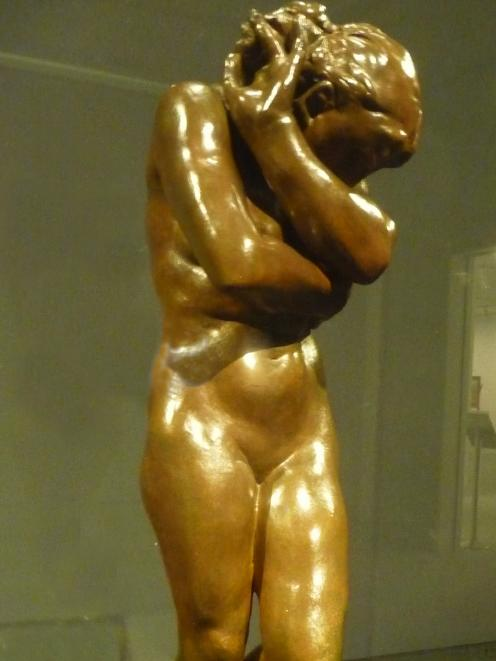 The sculpture Eve cast from an original Rodin work.