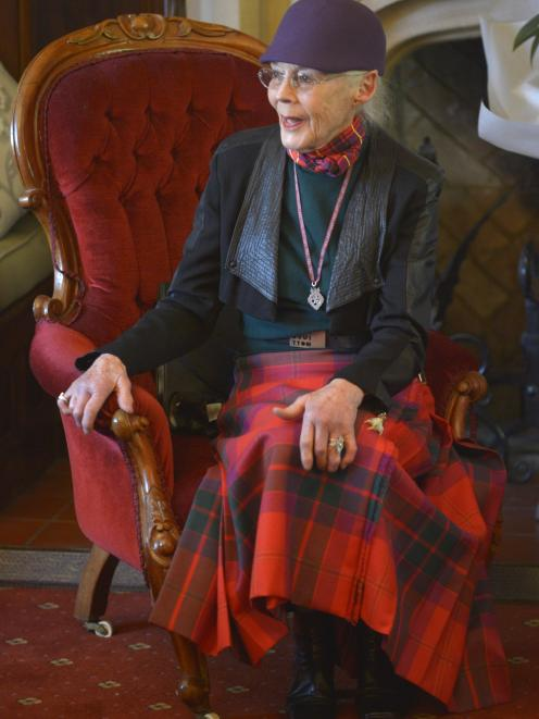 Dunedin fashion celebrity Barbara Brinsley discussed garments from her collection at the weekend.