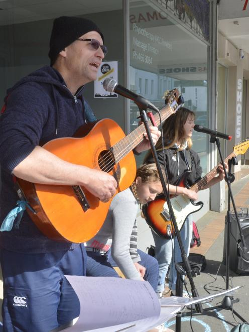The Barton Groove - comprising David  Barton and daughters Hannah (13) and Abi Barton (18) - back...