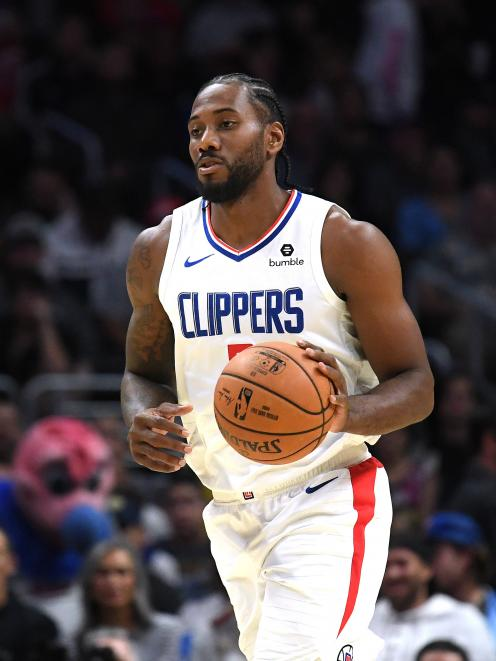 Kawhi Leonard has formed a strong combination with Paul George at the LA Clippers. Photo: Getty...
