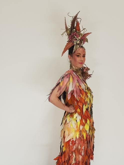 Imagination gone wild Amy Roberts' ensemble, The Phoenix, was recognised at the Canterbury 2019 Wearable Arts Awards. PHOTO: SUPPLIED